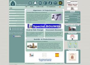 Homepage Laatjebouwen.be - Tweede versie van Website