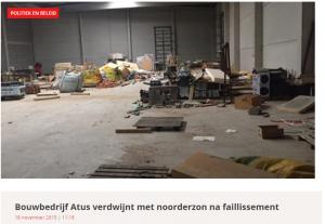 Bouwbedrijf Atus uit Geel failliet